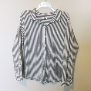 Striped Button Down Shirt XXL